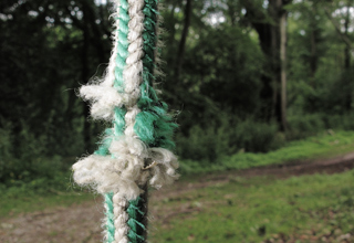 Cuts in climbing rope